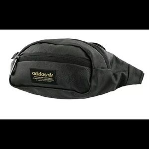 Adidas originals faux leather fanny pack new